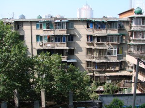 A view from my first flat in Chengdu, 2007