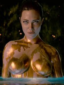 Angelina Jolie as Grendel's mum in Beowulf