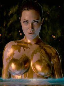 Angelina Jolie as Grendel's mum in Beowulf