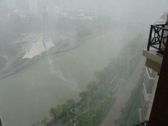 Yesterday's thunderstorm in Wuxi.