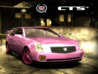 Cadillac CTS in pink. Look away, children!