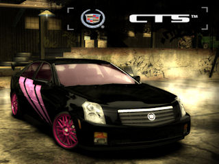 Cadillac CTS with pink highlights. Not quite as awful.
